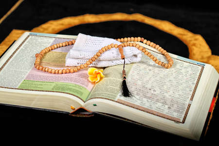 Holy Quran and beads Banque d'images