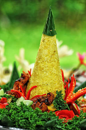 Tumpeng rice, Indonesian food