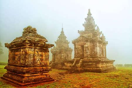 candi songo, Hindu temple in Indonesia Stock Photo