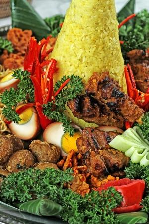 Indonesian nasi tumpeng