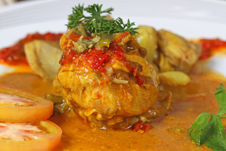 Ayam gulai, Indonesian cuisine, spicy chicken with coconut gravy