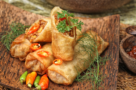 Lumpia Semarang, spring roll Indonesian cuisine photo