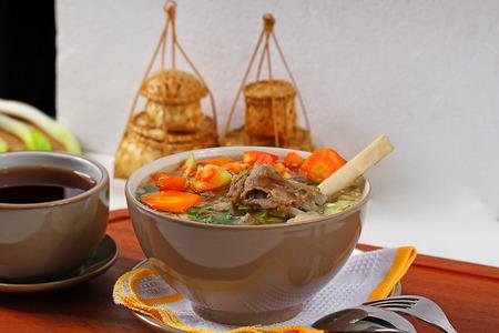 sop: sop kambing tegal, Indonesian lamb meat soup