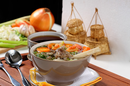 Indonesian lamb meat soup photo
