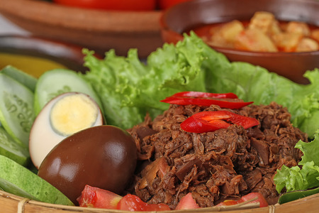 jack fruits dish, gudeg Jogya, Indonesian food