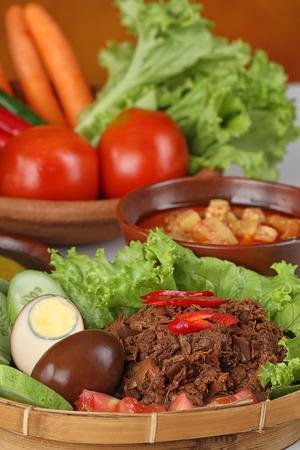indonesian food: jack fruits dish, gudeg Jogya, Indonesian food
