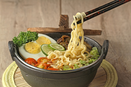 Indonesian cuisine, soto mie, Noodle soup Stock Photo