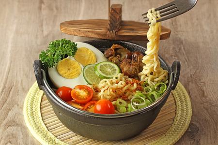 innards:  Indonesian cuisine, soto mie, Noodle soup Stock Photo