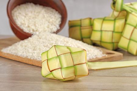 indonesian food: ketupat lebaran, Indonesian food for festive day