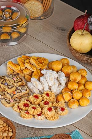 Cookies for hari raya aidilfitri, Indonesian cookies photo
