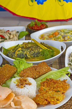 Some Indonesian foods for family lunch photo