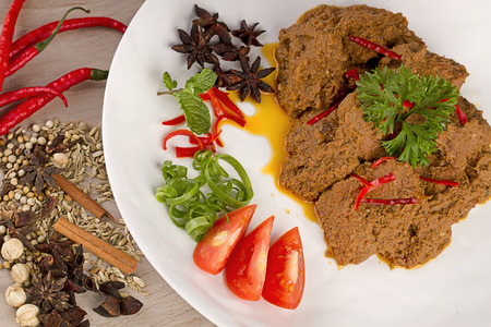 Famous rendang padang, Indonesian cuisine from West Sumatera