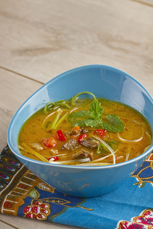 goat Tongseng solo, Indonesian dish made of lamb and cabbage