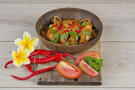 sambal cumi, squid hot and spicy