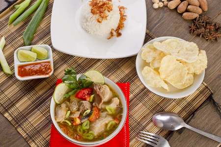 Indonesian ribs soup