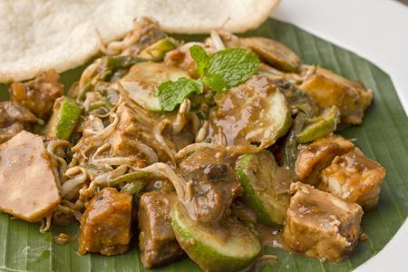 rujak cingur, 수 라바 야 샐러드, 인도네시아 요리 스톡 콘텐츠