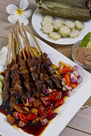 sate kambing, lamb beef satay, Indonesian food