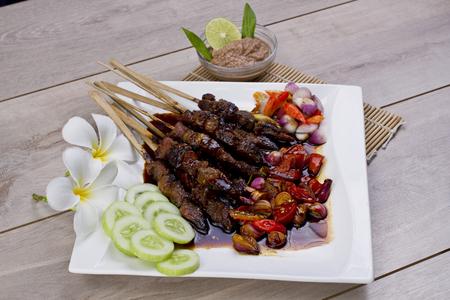 sate kambing, lamb beef satay, Indonesian food
