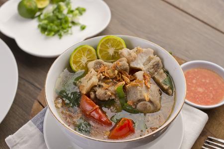 sop iga, Indonesian ribs soup Stock Photo