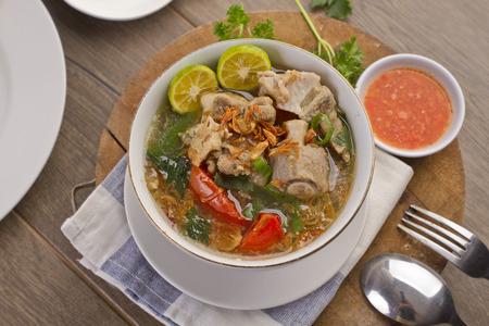 sop iga, Indonesian ribs soup Foto de archivo