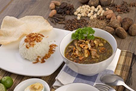 Rawon Surabaya, Indonesian Beef Soup Banco de Imagens - 83224731