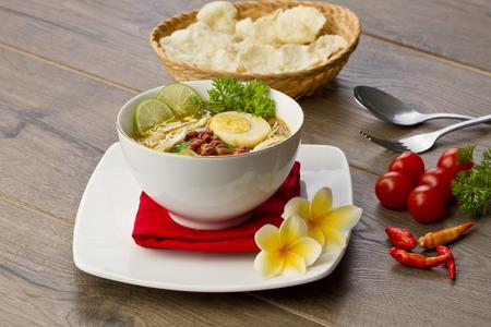 소테 아얌, 인도네시아 닭고기 스프 스톡 콘텐츠