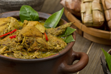 opor ayam, Indonesian chicken Curry Stock Photo