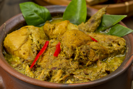 opor ayam, Indonesian chicken Curry Stock Photo - 83156039