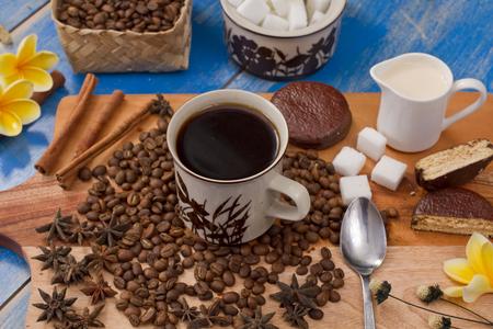 Indonesian coffee and coffee bean