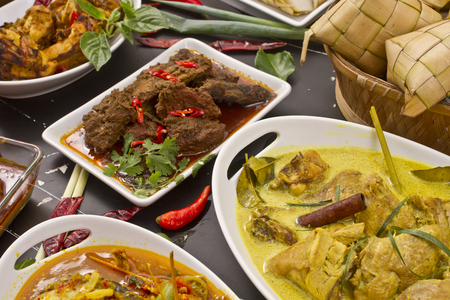 various Indonesian food Stock Photo