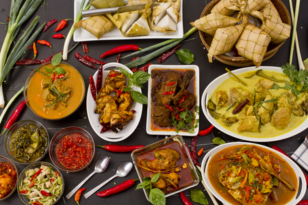 various Indonesian food Stock Photo