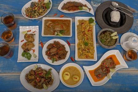 Indonesian lunch menu set Padang Cuisine