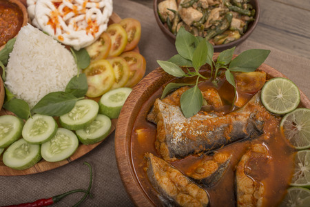 lunch menu fresh water fish Indonesian food