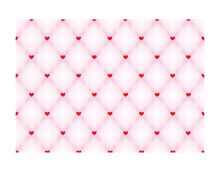 convex: Vector seamless background  Modern stylish texture  Pink geometric tiles convex with red heart  Illustration