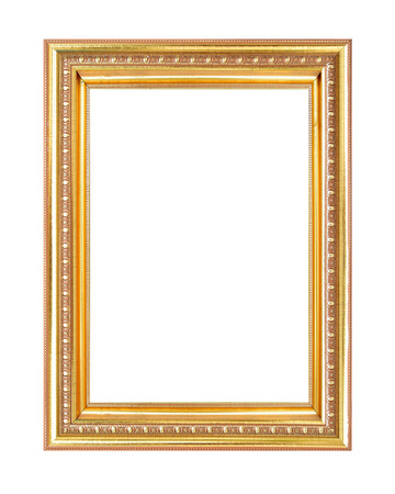 Gold woodsculpture picture frame Zdjęcie Seryjne
