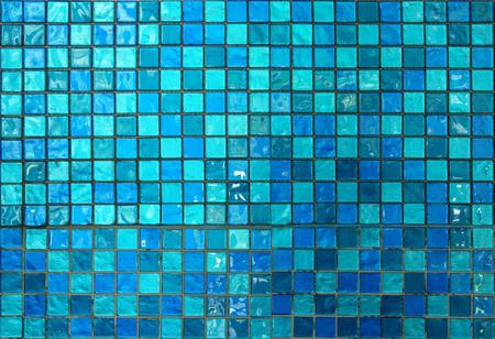 mosaic floor: wall and floor mosaic tiles in azure blue