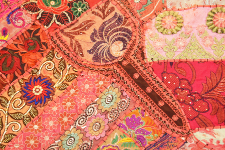 embroidered fabric pattern