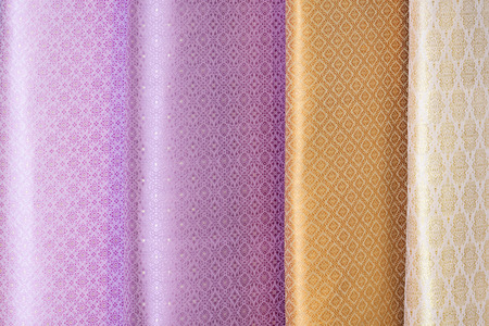 shade tone colors ornaments patterns of thai silk textiles