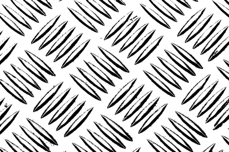 Grunge Black and White Distress Texture . Scratch Texture .metal diamond plate. Stock Photo