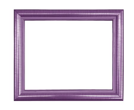 紫色のヴィンテージ写真とフォトフレームは、白い背景に隔離