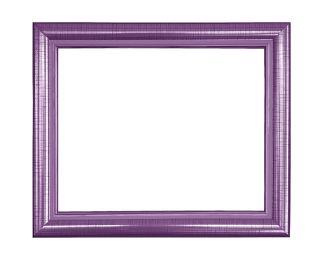 purple vintage picture and photo frame isolated on white background Фото со стока