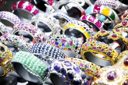 jewelry, ruby, sapphire and diamond on bracelet bracelet selling souvenir shop