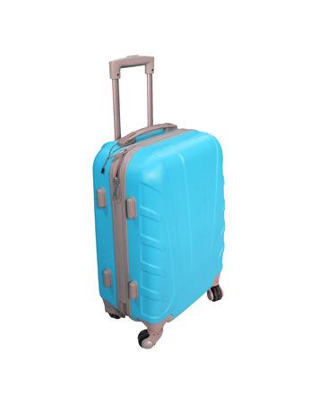 Blue suitcase isolated on white background Stock Photo