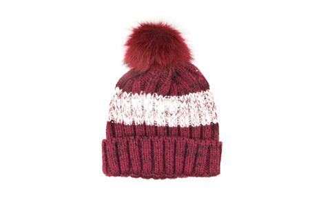 wool knitted hat isolated on white background. Standard-Bild