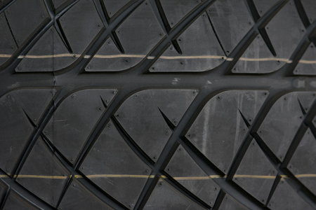 Car tire background, Tyre texture closeup background.
