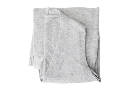 waistcoat folded isolated on white background. Top view. Banque d'images