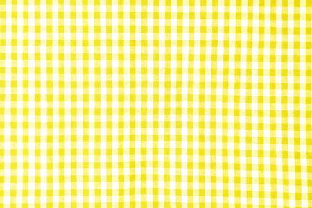 Fondo de textura de mantel amarillo, vista superior del mantel