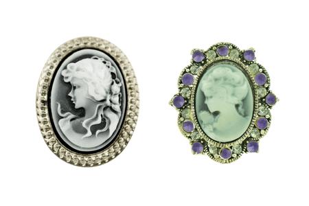 vintage pendants isolated on white background