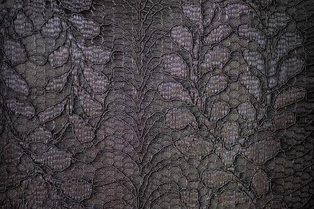 Lace fabric background, black lace fabric Archivio Fotografico - 128511065