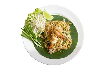 Fried noodle thai style (pad thai) Delicious